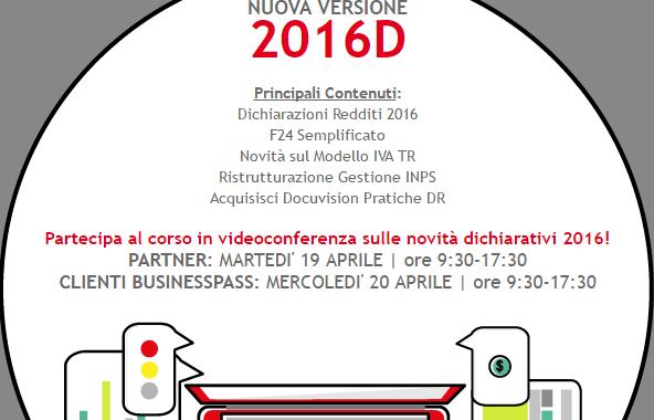 Versione 2016 D del programma Businesspass.