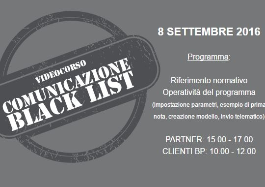 Corso Gratuito Black List